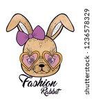 fashion rabbit design print | Shutterstock .eps vector #1236578329