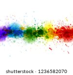 bright watercolor stains paint... | Shutterstock .eps vector #1236582070