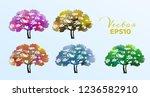 set of watercolor trees ....   Shutterstock .eps vector #1236582910