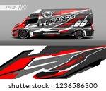 cargo van car wrap design... | Shutterstock .eps vector #1236586300