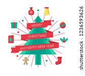 holiday christmas symbol and... | Shutterstock .eps vector #1236593626