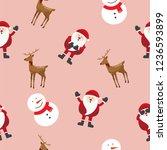 cute christmas cartoon seamless ...   Shutterstock .eps vector #1236593899
