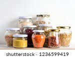 collection of cereals in... | Shutterstock . vector #1236599419