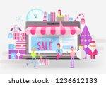 e commerce christmas sale... | Shutterstock .eps vector #1236612133