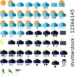 weather icons for all seasons ... | Shutterstock . vector #12366145