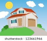 sweet house | Shutterstock .eps vector #123661966