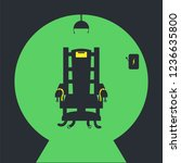Electric Chair Vector Icon On...