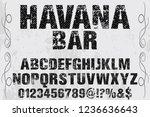 vintage handcrafted font...   Shutterstock .eps vector #1236636643