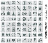 medical icon set vector | Shutterstock .eps vector #123663718