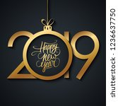 2019 new year greeting card... | Shutterstock .eps vector #1236637750