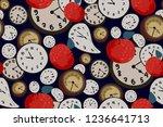 surreal elegant seamless print. ... | Shutterstock .eps vector #1236641713
