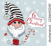 greeting christmas card cute... | Shutterstock .eps vector #1236643240