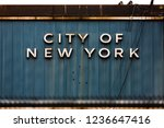 the words city of new york... | Shutterstock . vector #1236647416