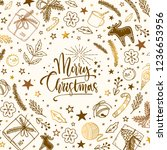 winter christmas and new year...   Shutterstock .eps vector #1236653956