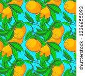 floral fruit pattern. pattern...   Shutterstock .eps vector #1236655093