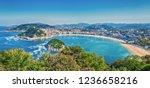 view of the bay of la concha... | Shutterstock . vector #1236658216