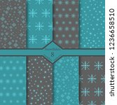set of snowflake patterns | Shutterstock .eps vector #1236658510