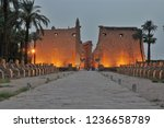 luxor temple and the avenue of... | Shutterstock . vector #1236658789