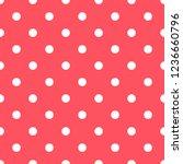 seamless pattern in polka dot...   Shutterstock .eps vector #1236660796