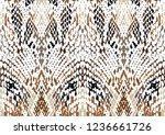 snake skin pattern | Shutterstock .eps vector #1236661726