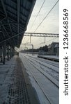 early winter morning. railway... | Shutterstock . vector #1236668569