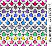 art deco pattern with colorful... | Shutterstock .eps vector #1236670549