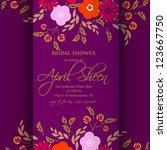 wedding card or invitation with ...   Shutterstock .eps vector #123667750