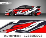 racing car decal design vector. ... | Shutterstock .eps vector #1236683023