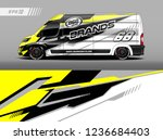 cargo van decal design vector.... | Shutterstock .eps vector #1236684403