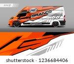cargo van decal design vector.... | Shutterstock .eps vector #1236684406