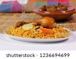 chicken biryani with qorma ... | Shutterstock . vector #1236694699