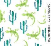 vector hand drawn seamless... | Shutterstock .eps vector #1236703060