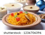 indian dessert food  zarda rice ... | Shutterstock . vector #1236706396