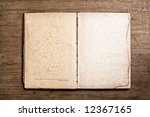 open vintage book. | Shutterstock . vector #12367165