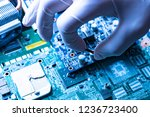 manufacture of the new modern... | Shutterstock . vector #1236723400