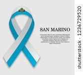 flag of san marino on stripe... | Shutterstock .eps vector #1236729520