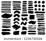 brush strokes. vector... | Shutterstock .eps vector #1236730336