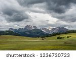 hiking in italian mountains... | Shutterstock . vector #1236730723