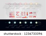 timeline vector infographic....   Shutterstock .eps vector #1236733396