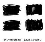 brush lines set. vector... | Shutterstock .eps vector #1236734050