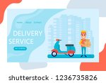 delivery service concept for...