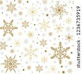 simple christmas seamless... | Shutterstock .eps vector #1236735919