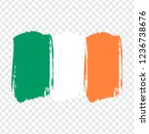 flag ireland  brush stroke...