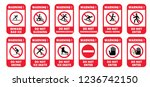 beware no ice skate ice kating... | Shutterstock .eps vector #1236742150