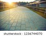 walking path in the park ...   Shutterstock . vector #1236744070