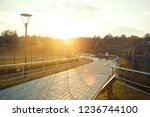 walking path in the park.summer ...   Shutterstock . vector #1236744100