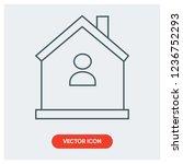 residence home vector icon   Shutterstock .eps vector #1236752293