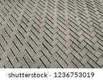old grey pavement texture... | Shutterstock . vector #1236753019