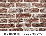 old red brick wall background... | Shutterstock . vector #1236753040