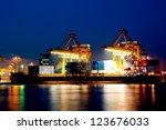 Container Cargo In Twilight...